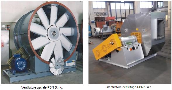 Ventilatore assiale e centrifugo