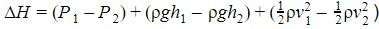 Perdite di carico trinomio di Bernoulli